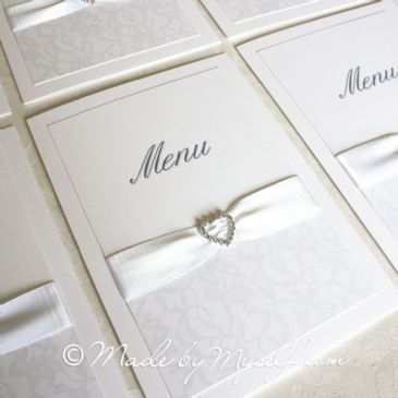 Ribbon Heart Lace Menu